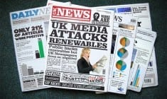 How the UK national media treats renewables